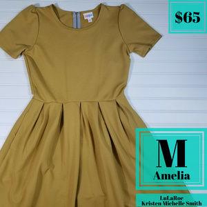 LuLaRoe Amelia Pleated Dress with Pockets